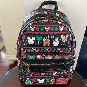 🆕 NWT Loungefly Christmas Xmas Snacks Backpack